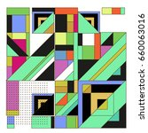trendy geometric elements...   Shutterstock .eps vector #660063016