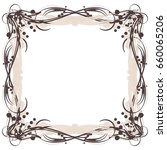 calligraphic frame background...   Shutterstock .eps vector #660065206
