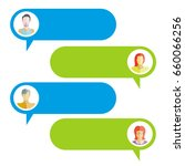 chat bubble  chat dialog on...   Shutterstock .eps vector #660066256