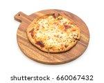 creamy mushroom pizza isolated... | Shutterstock . vector #660067432