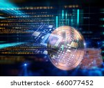 bitcoin and block chain network ... | Shutterstock . vector #660077452