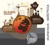 global warming  | Shutterstock .eps vector #660079216