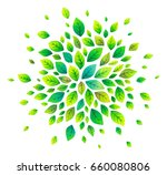 green cartoon style vector... | Shutterstock .eps vector #660080806