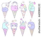 vector illustration of pop cute ... | Shutterstock .eps vector #660088132