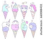 vector illustration of pop cute ... | Shutterstock .eps vector #660088432
