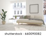 inspiration of white room with... | Shutterstock . vector #660090082