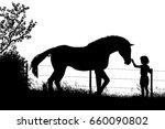 editable vector silhouette of a ... | Shutterstock .eps vector #660090802