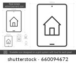 real estate advertisement... | Shutterstock .eps vector #660094672