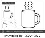 coffee mug vector line icon... | Shutterstock .eps vector #660096088