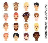 different ethnic nationality... | Shutterstock .eps vector #660099892