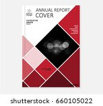 red annual report brochure... | Shutterstock .eps vector #660105022