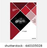 red annual report brochure... | Shutterstock .eps vector #660105028