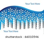 snowy forest | Shutterstock .eps vector #66010546