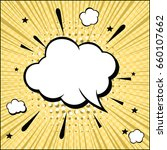 freehand drawn comic speech... | Shutterstock .eps vector #660107662