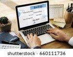 cloud data storage technology... | Shutterstock . vector #660111736