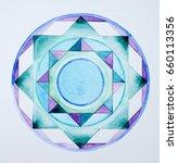 mandala pattern  hand painted... | Shutterstock . vector #660113356