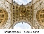 triumphal arch  arc de triomphe ... | Shutterstock . vector #660115345