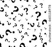 question mark seamless pattern .... | Shutterstock .eps vector #660118978
