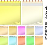 collection color notepads. | Shutterstock .eps vector #66012127