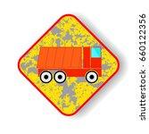 dump truck icon. transport... | Shutterstock .eps vector #660122356