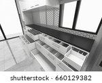 open cabinets kitchen ideas  3d ... | Shutterstock . vector #660129382