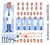 flat vector male doctor... | Shutterstock .eps vector #660130036
