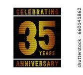 35 years anniversary logo.... | Shutterstock .eps vector #660141862