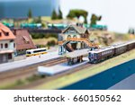Toy Railway With Train And...