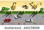 top view under construction... | Shutterstock .eps vector #660158008