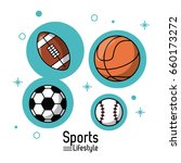 colorful poster of sports... | Shutterstock .eps vector #660173272