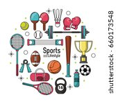 colorful poster of sports...   Shutterstock .eps vector #660173548