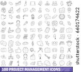 100 project management icons... | Shutterstock . vector #660174622