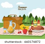 colorful poster of summer... | Shutterstock .eps vector #660176872