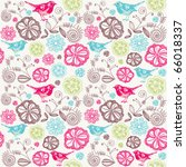 floral seamless background with ...
