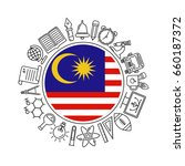 education of malaysia pattern... | Shutterstock .eps vector #660187372