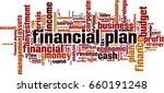 financial plan word cloud... | Shutterstock .eps vector #660191248