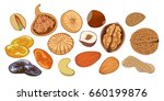 vector illustration nuts  and... | Shutterstock .eps vector #660199876