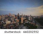 evening view of kuala lumpur...   Shutterstock . vector #660202552