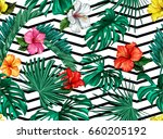 vector nature floral seamless... | Shutterstock .eps vector #660205192