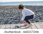 happy girl enjoying in the... | Shutterstock . vector #660217246