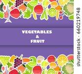 vegetables and fruit banner... | Shutterstock .eps vector #660219748