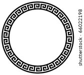 round frame with a meander.... | Shutterstock .eps vector #66022198