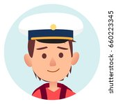 future mariner portrait of... | Shutterstock .eps vector #660223345