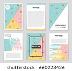 abstract vector layout... | Shutterstock .eps vector #660223426