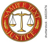 Scales Of Justice Seal  Badge