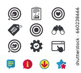 target aim icons. darts board...