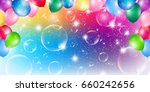soap bubble sky colorful... | Shutterstock .eps vector #660242656