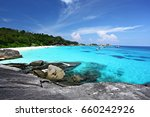 tropical beach similan islands... | Shutterstock . vector #660242926