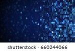 scanning digital data blue hex