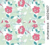 floral seamless pattern with... | Shutterstock .eps vector #66024637